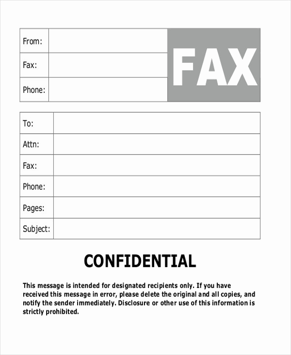 Fax Cover Sheet Confidential Best Of Sample Fax Cover Letter In Pdf 8 Examples In Pdf