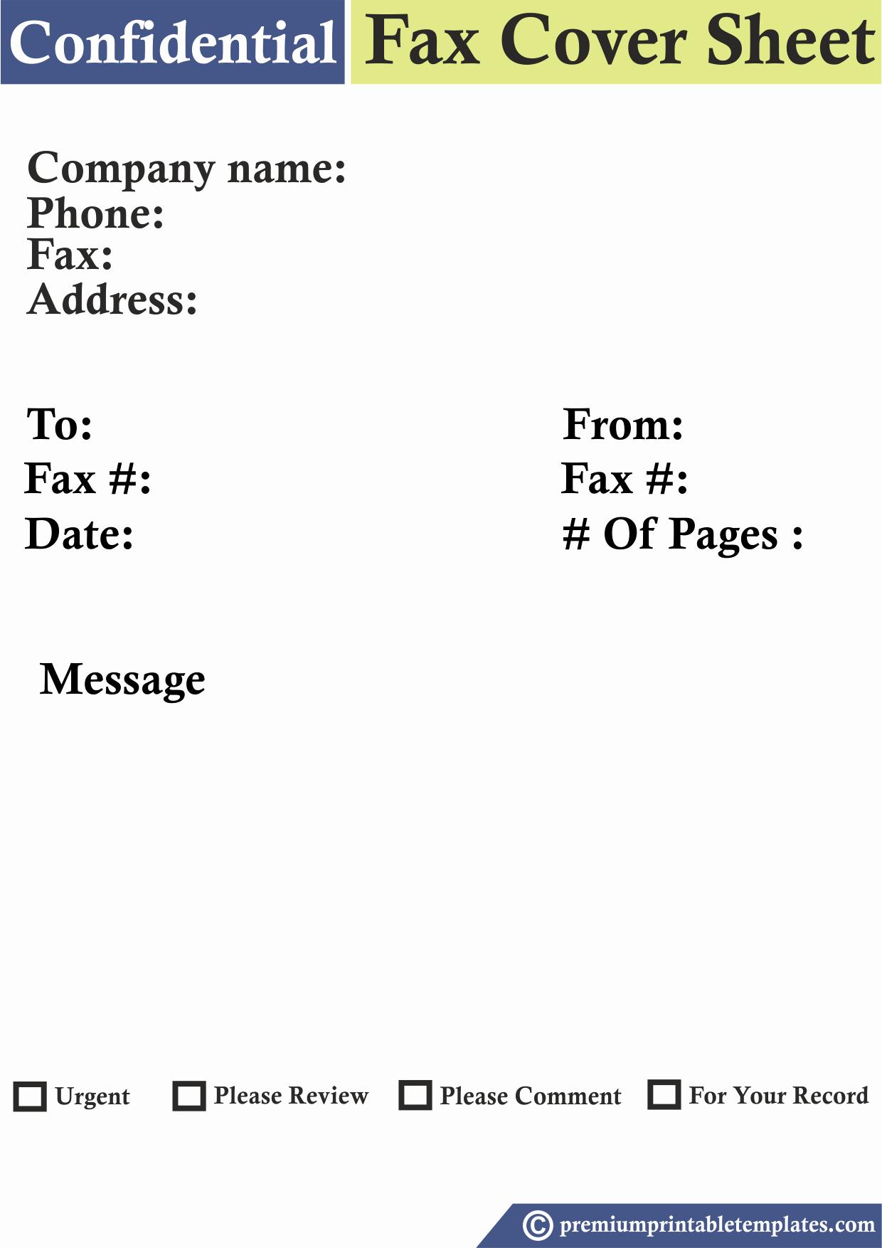 Fax Cover Sheet Confidential Fresh Confidential Fax Cover Sheet Templates – Premium Printable
