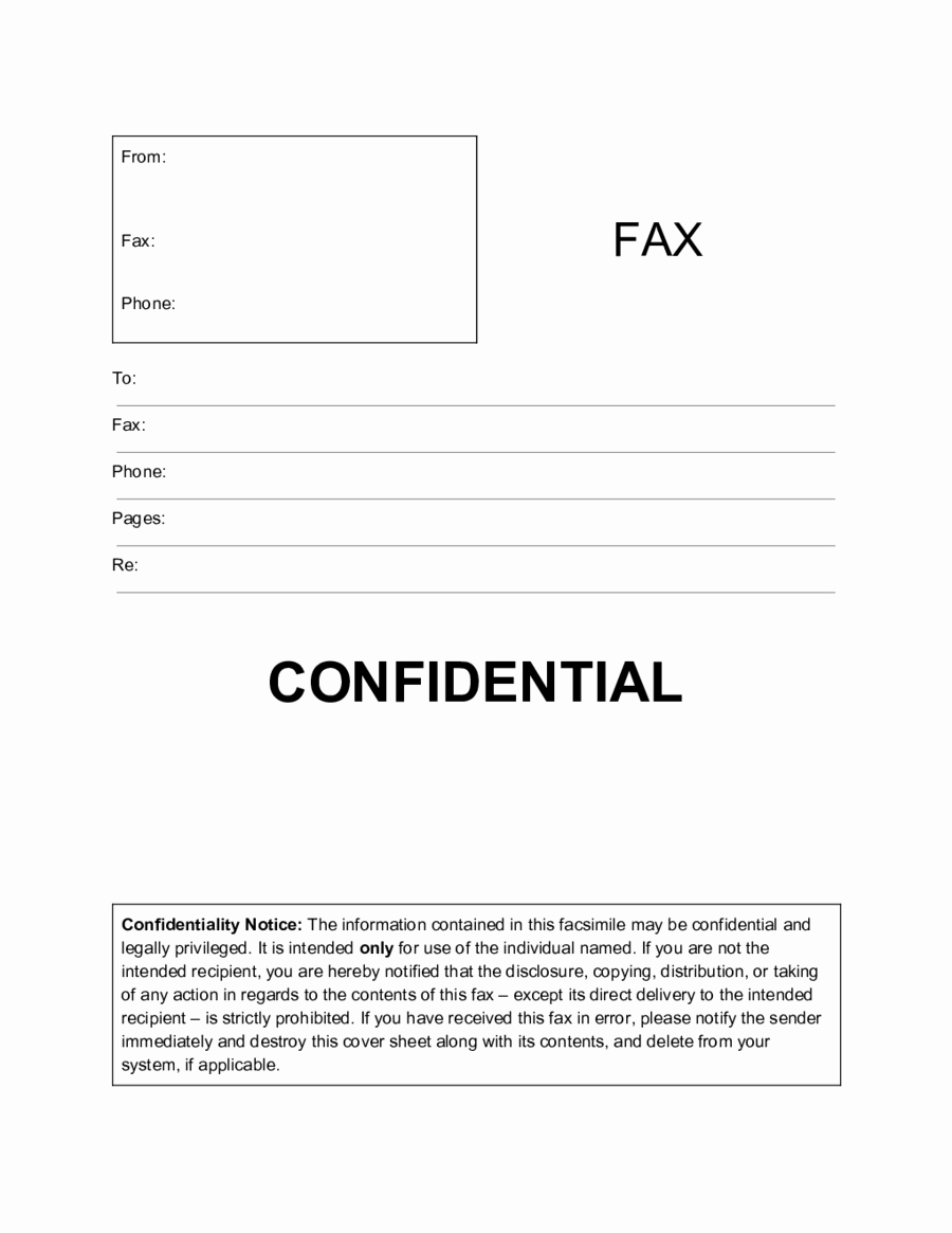 Fax Cover Sheet Confidential New 2019 Fax Cover Sheet Template Fillable Printable Pdf