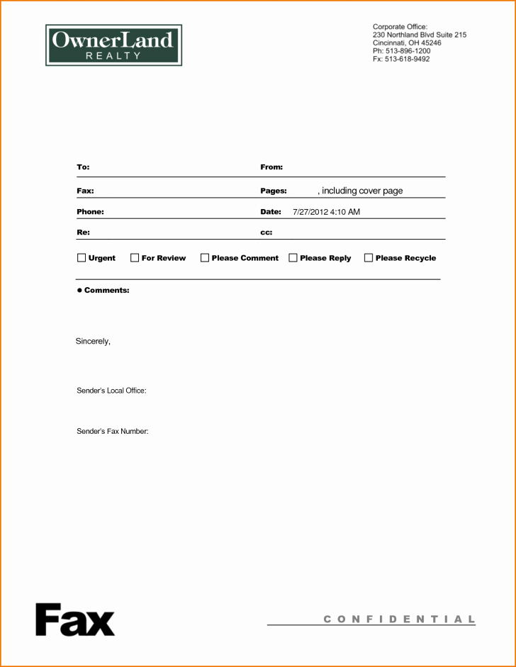 Fax Cover Sheet Confidential New Confidential Fax Cover Sheet Financial Letter Example
