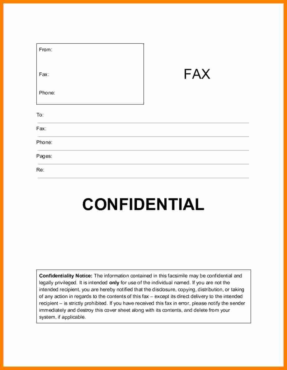 Fax Cover Sheet Confidential Unique 6 Confidential Fax Statement