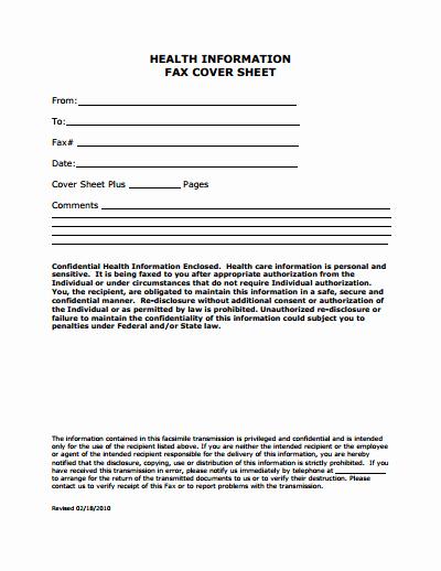 Fax Cover Sheet Template Free Beautiful Medical Fax Cover Sheet Template Free Download Create
