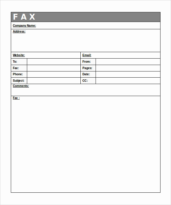 Fax Cover Sheet Template Free Elegant 12 Free Fax Cover Sheet Templates – Free Sample Example