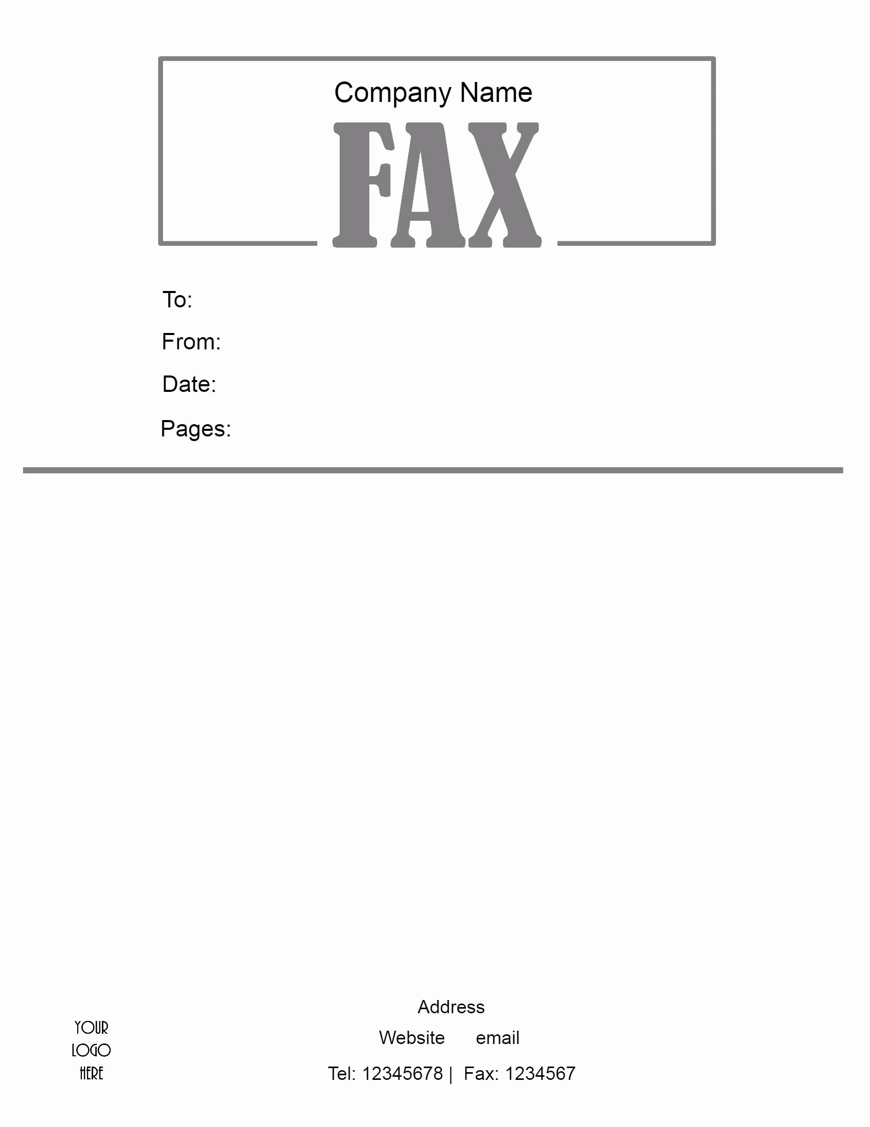 Fax Cover Sheet Template Free Elegant Free Fax Cover Sheet Template