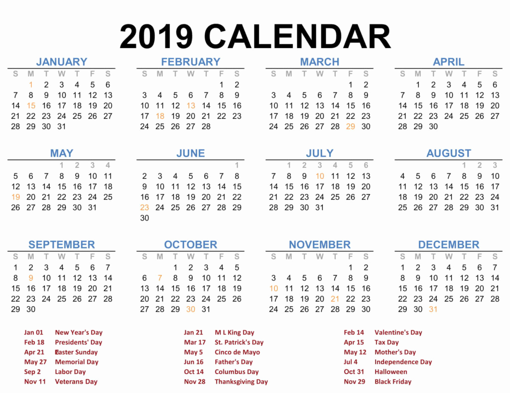 Fedex Holidays Schedule 2019 Awesome 2019 Printable Calendar Templates Pdf Excel Word Free