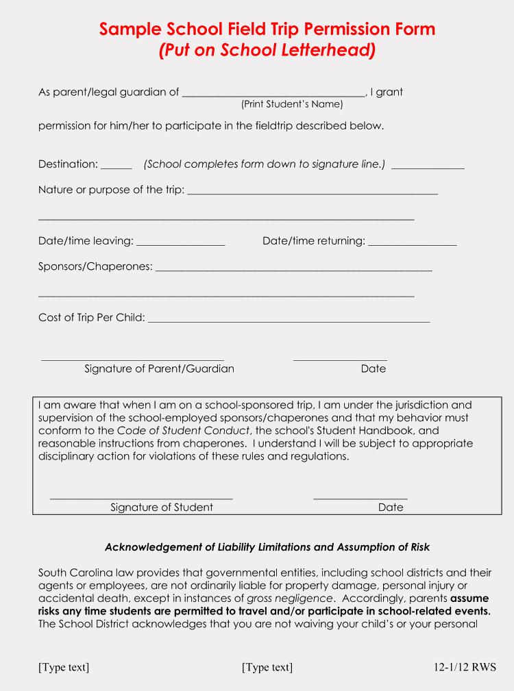 Field Trip Permission Slip Template Fresh Blank Field Trip Permission Slip Templates & forms Word Pdf