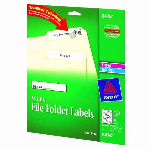 File Folder Label Template Fresh Avery File Folder Labels for Laser and Inkjet Printers 0