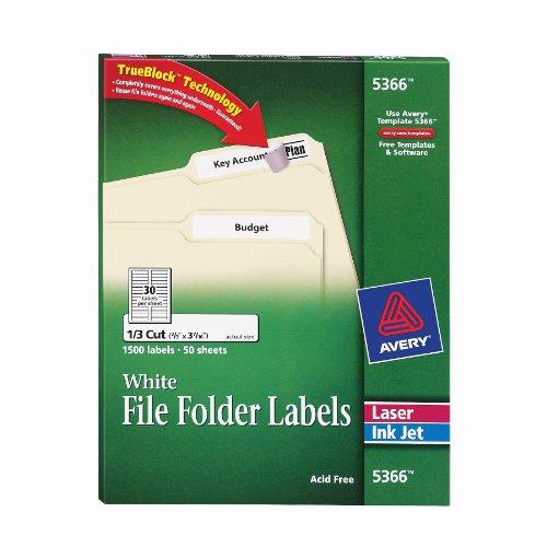 File Folder Label Template Inspirational Avery File Folder Labels for Laser and Ink Jet Printers