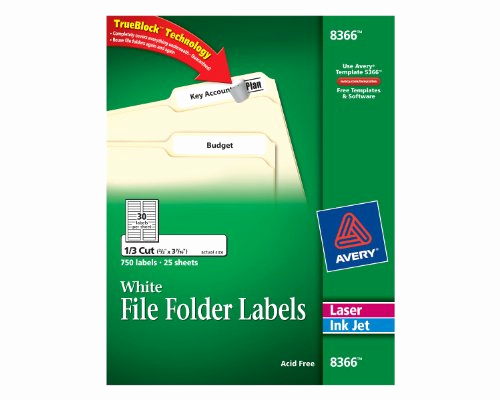 File Folder Label Template Inspirational Avery File Folder Labels for Laser and Inkjet Printers 0