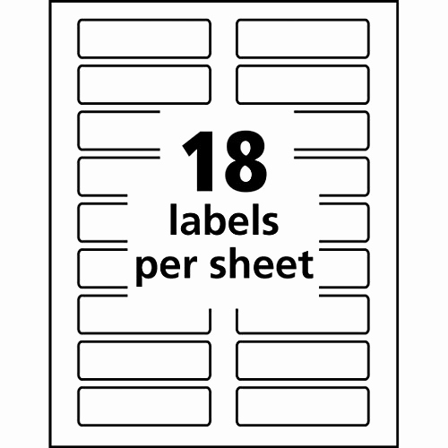 File Folder Label Template New Avery Removable Extra File Folder Labels 1 3 Cut