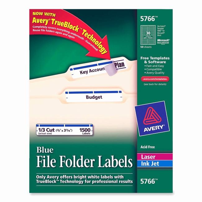 File Folder Label Template Unique Printer