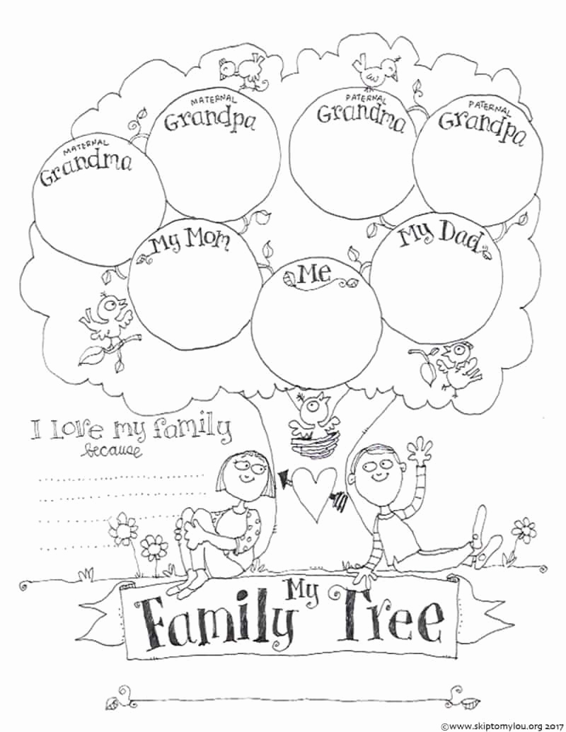 Fill In Family Tree Awesome Free Printable Family Tree Coloring Page