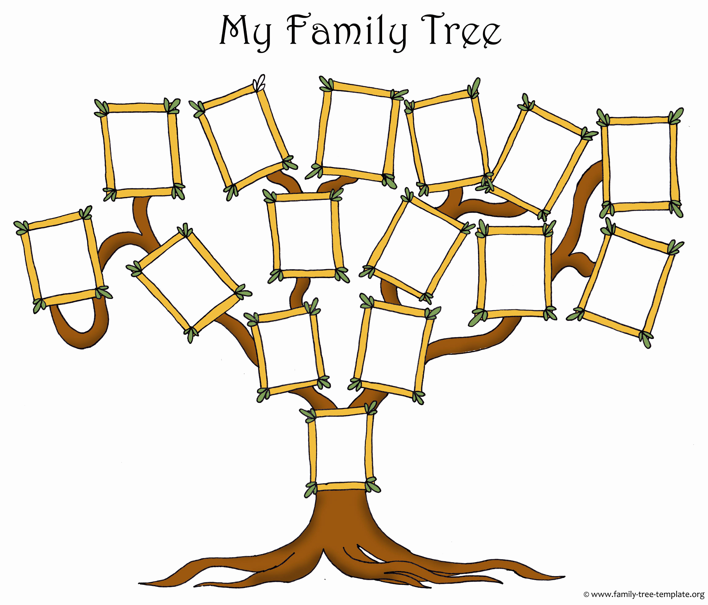 Fill In Family Tree Lovely Activities