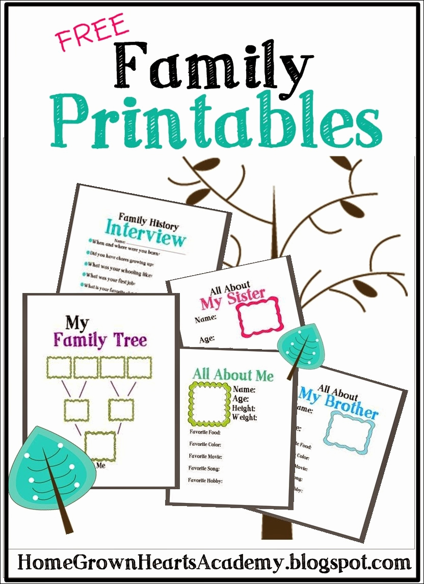 Fill In Family Tree New Free Family Tree Printables and Ideas