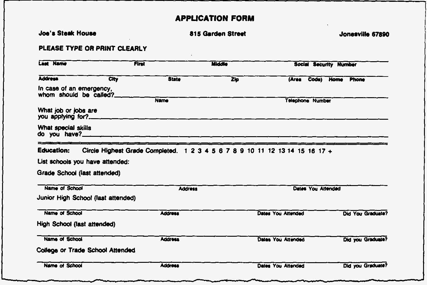 Fill In the Blank Resume Fresh Blank Resume forms to Fill Out Resume