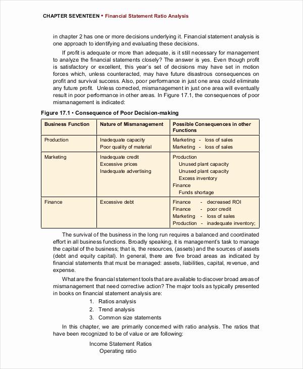 Financial Statement Analysis Example Beautiful 30 Financial Analysis Examples & Samples Pdf Word Pages