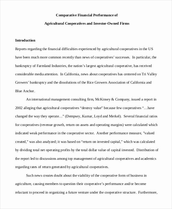 Financial Statement Analysis Example Elegant 30 Financial Analysis Examples & Samples Pdf Word Pages