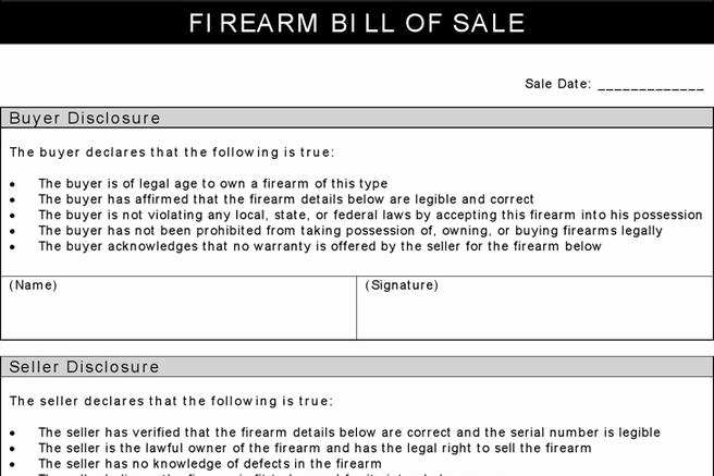 Firearm Bill Of Sale Florida Luxury 248 Bill Of Sale form Free Download