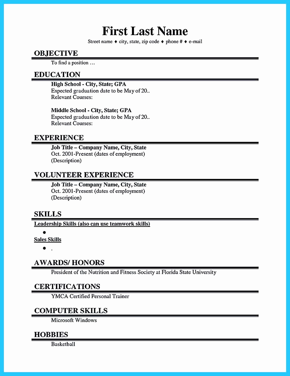 First Job Resume Template Awesome Cool Best Current College Student Resume with No