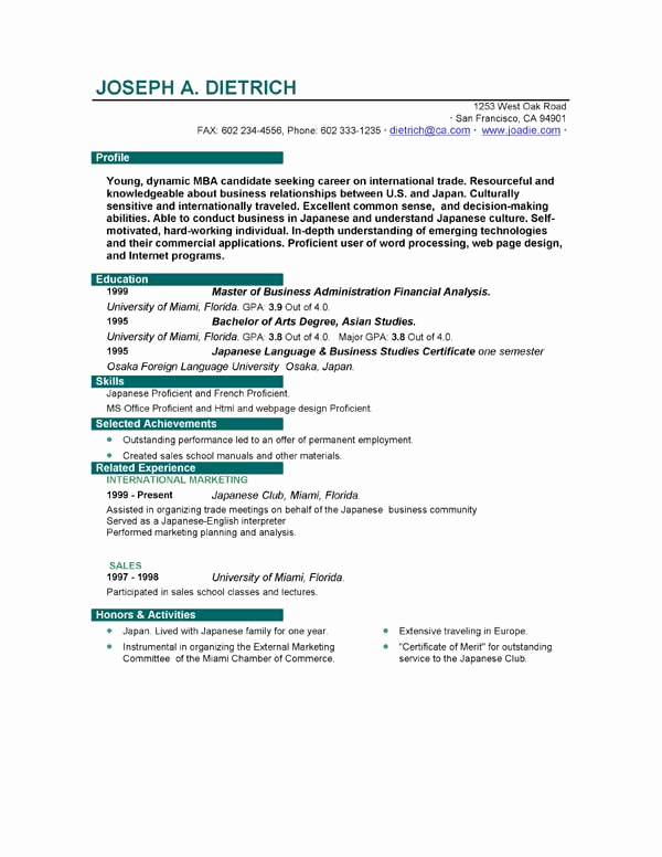 First Job Resume Template Beautiful Resume Templates to