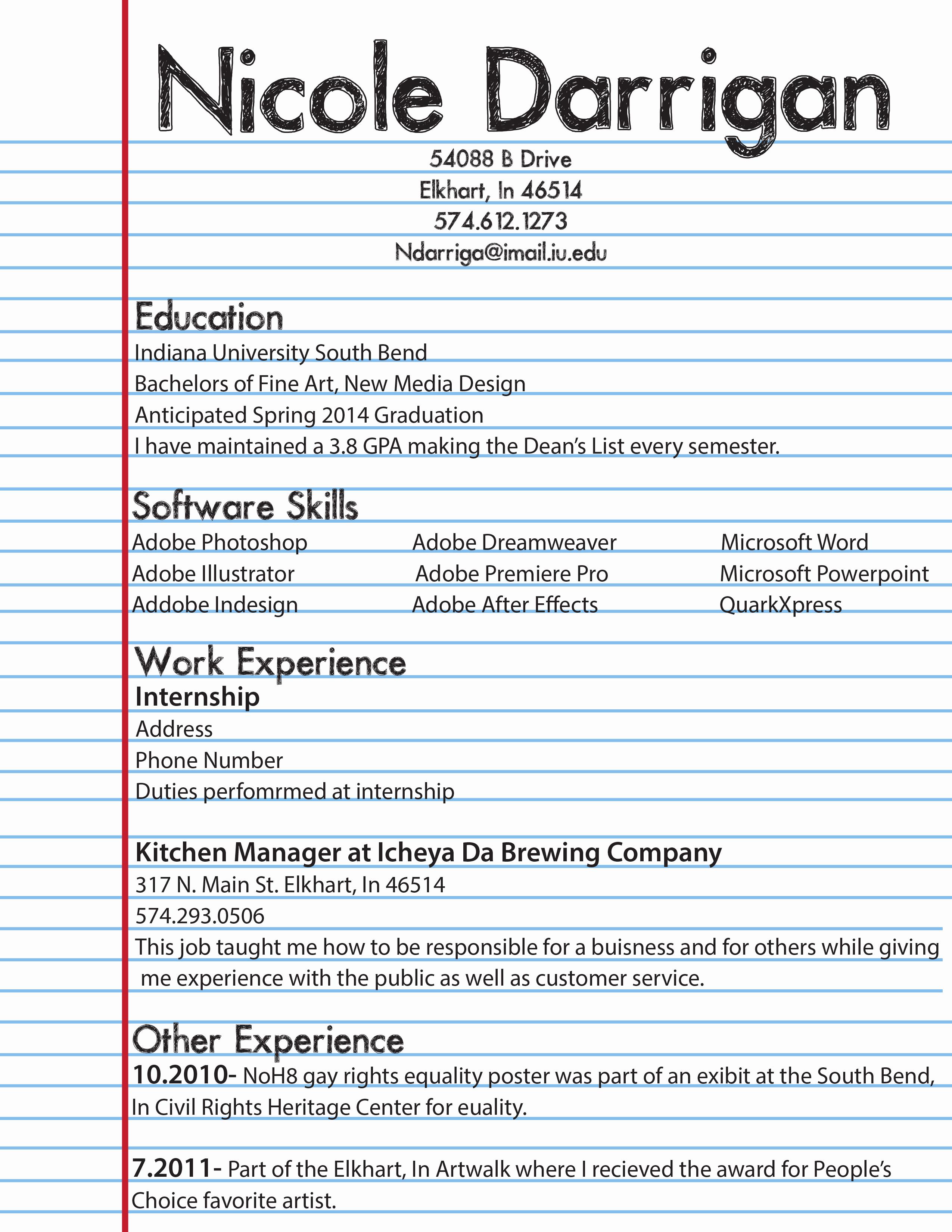First Job Resume Template Elegant Resume