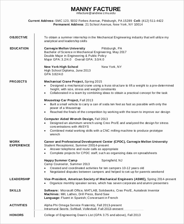 First Job Resume Template Lovely Sample First Resume Outstanding Resume Summary Examples