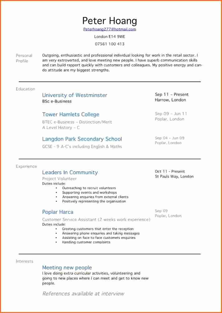 First Time Job Resume Awesome 42 Best First Time Resume with No Experience Ss I