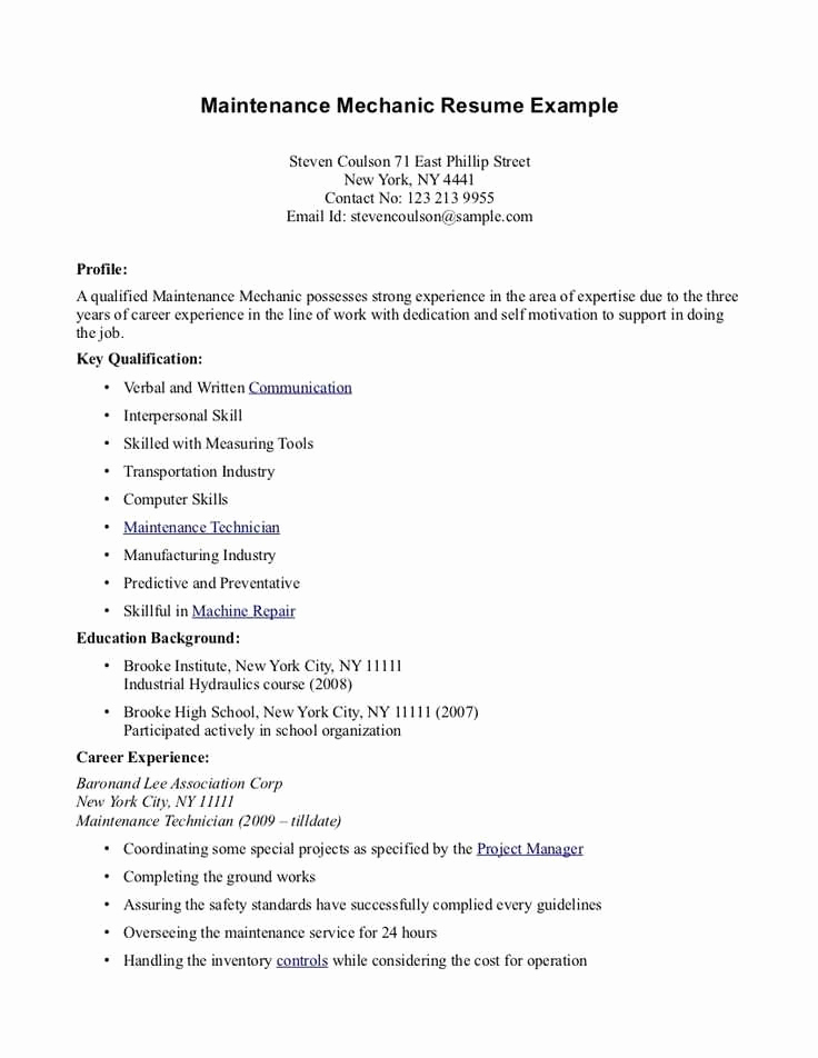 first time resume with no experience