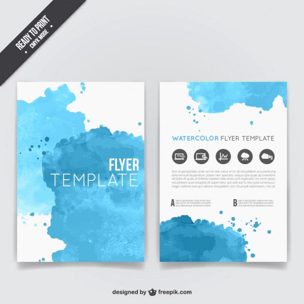 Flyer Templates Free Downloads Beautiful Watercolor Flyer Template Vector