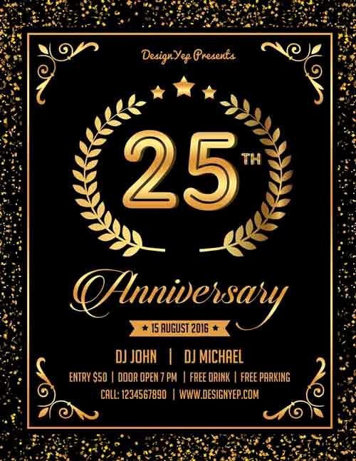 Flyer Templates Free Downloads Fresh 13 Elegant & Free Anniversary Flyer Templates