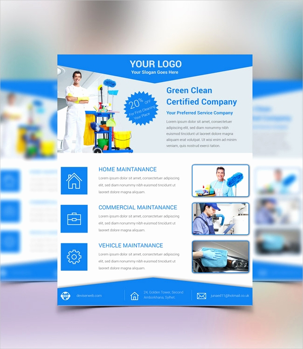 Flyer Templates Free Downloads Fresh 32 Cleaning Service Flyer Designs & Templates Psd Ai