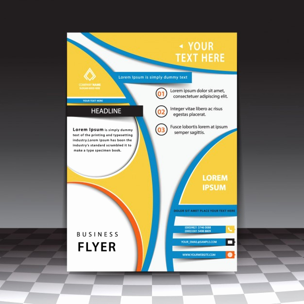 Flyer Templates Free Downloads New Abstract Business Flyer Template Free Vectors
