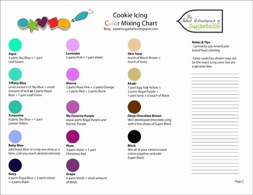 Food Color Mixing Chart Elegant Color Mixing Chart Cake Decorating Stuff