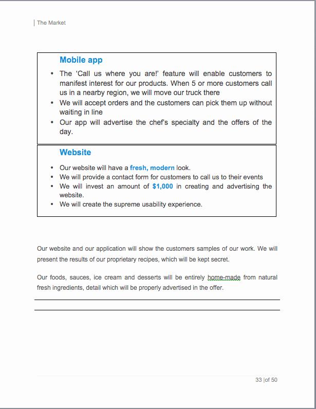 Food Truck Business Plan Sample Best Of Food Truck Business Plan Template Sample Pages Black Box