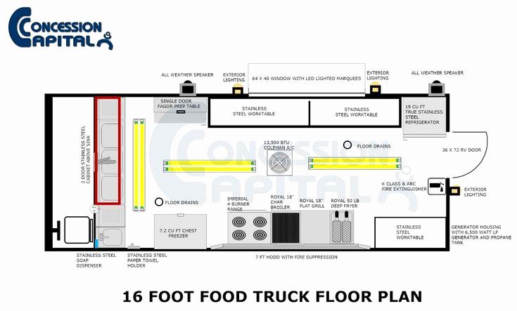 Food Truck Business Plan Sample Lovely 18 Foot Food Truck Floor Plan Step Vans