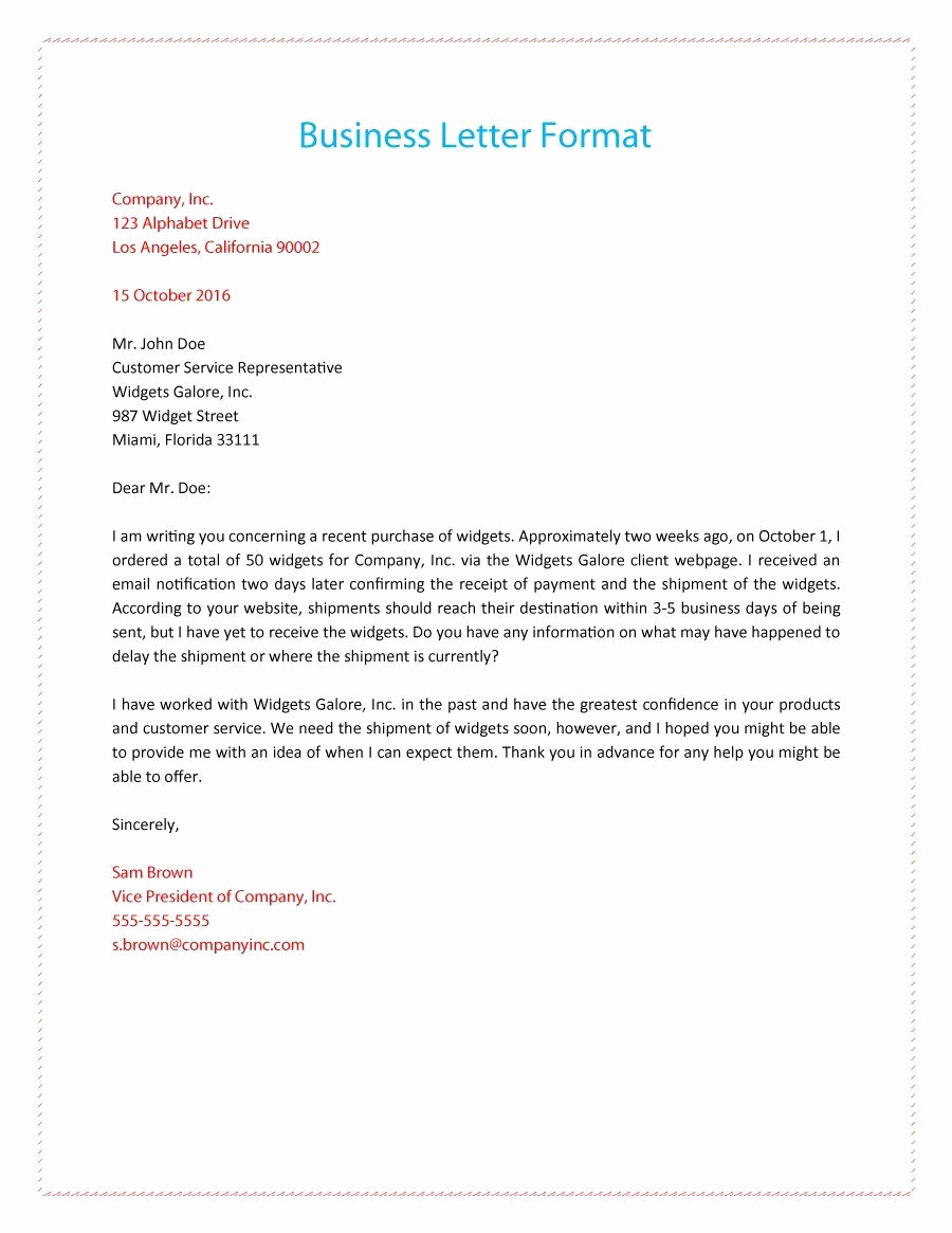 Formal Business Letter Template Luxury formal Business Letter 01 Business Letter