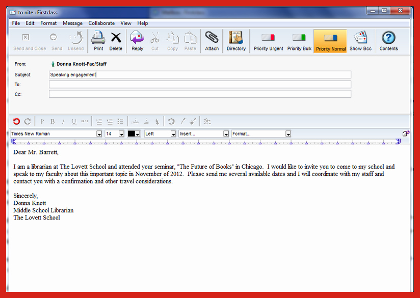 Formal E Mail Example Best Of formal Email Letter