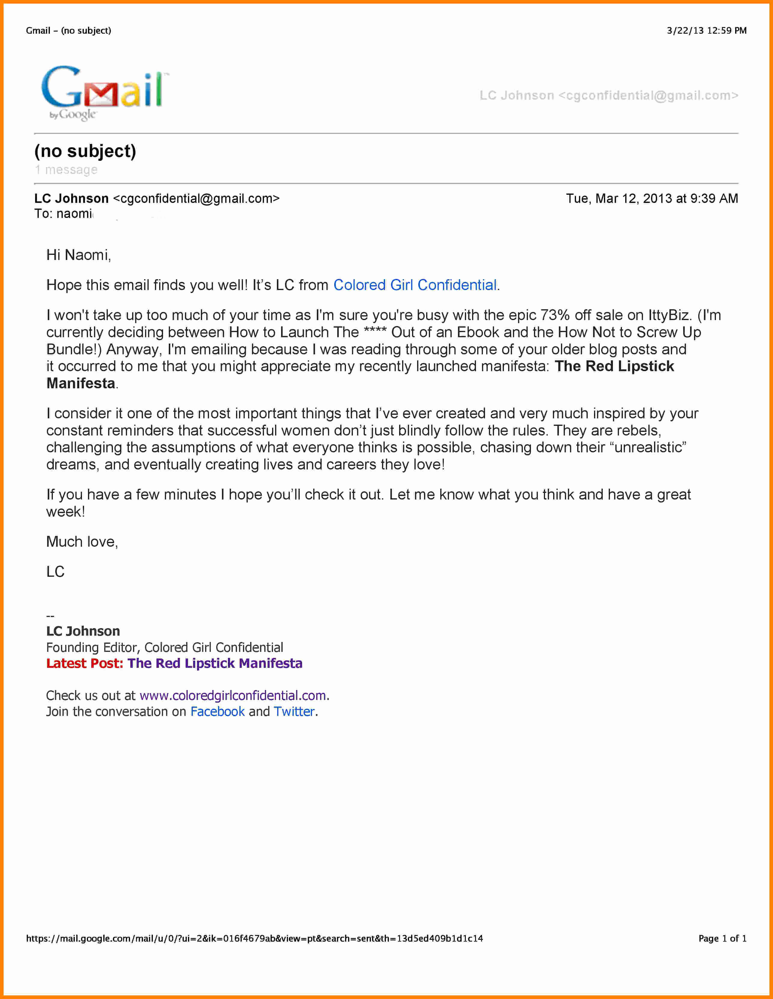 Formal E Mail Example Lovely 4 Professional Business Email
