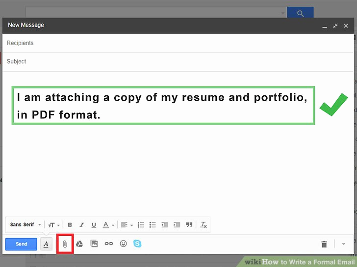 Formal E Mail Example Luxury 4 Ways to Write A formal Email Wikihow