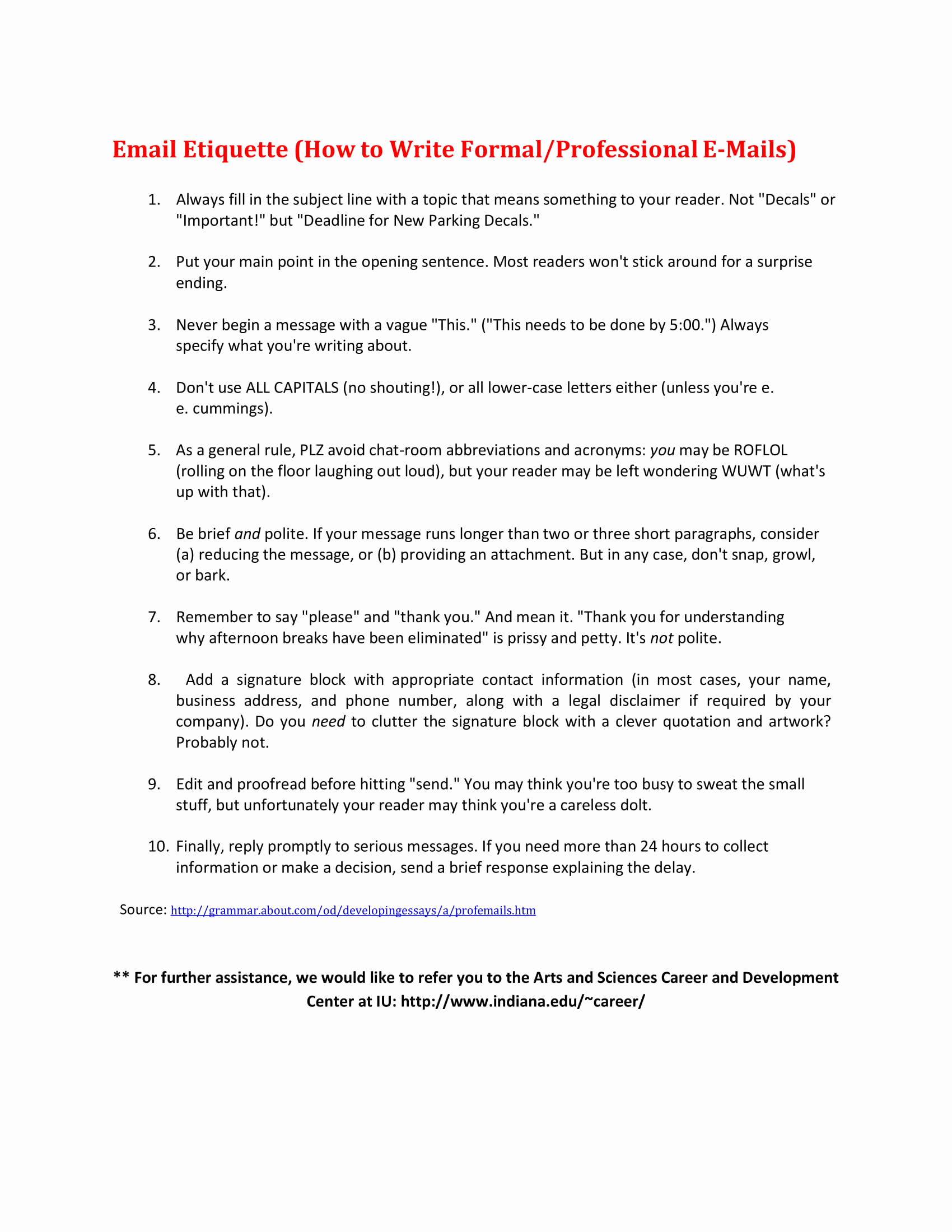 Formal E Mail Example Luxury 9 Professional Email Writing Examples Pdf