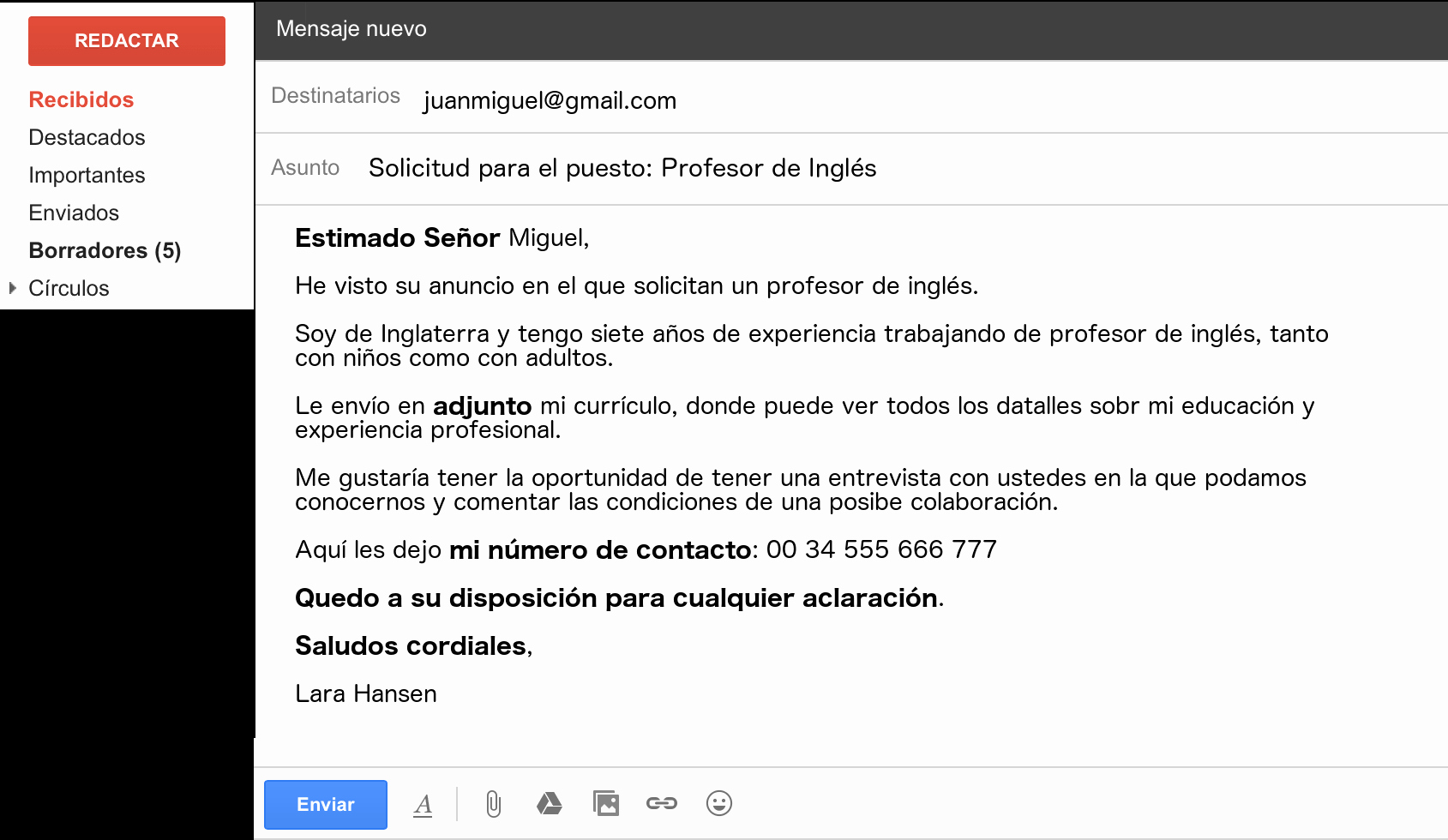 Formal E Mail Example New Write An Email In Spanish Like A Native Essential Vocab