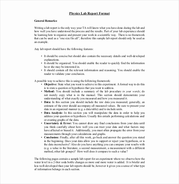 Formal Lab Report Template Beautiful 16 Laboratory Report Templates Free Pdf Ms Word Apple