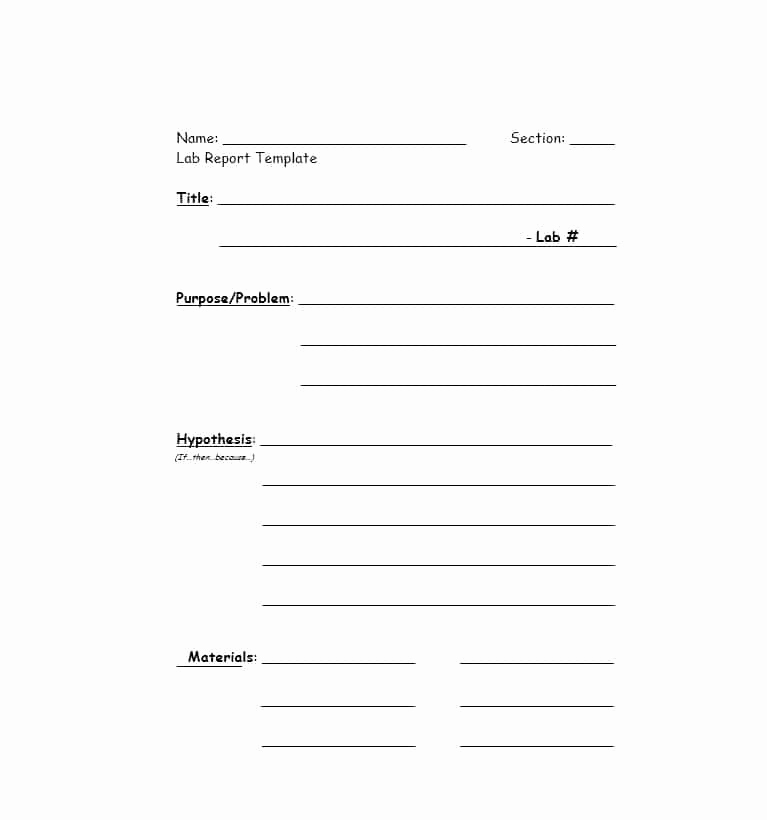 Formal Lab Report Template Beautiful 40 Lab Report Templates & format Examples Template Lab