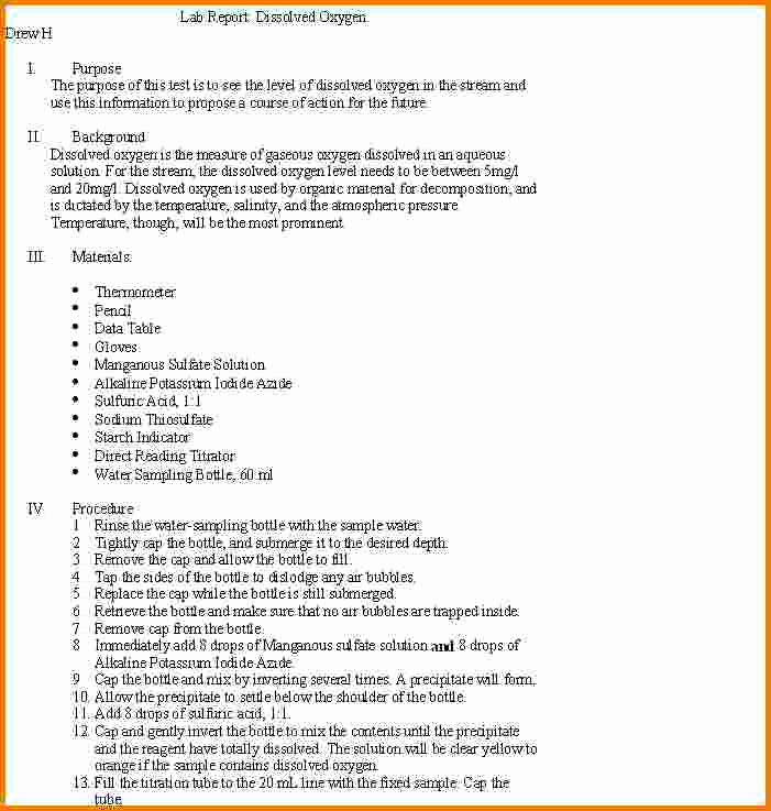 Formal Lab Report Template Inspirational Lab Report form Great College Essay
