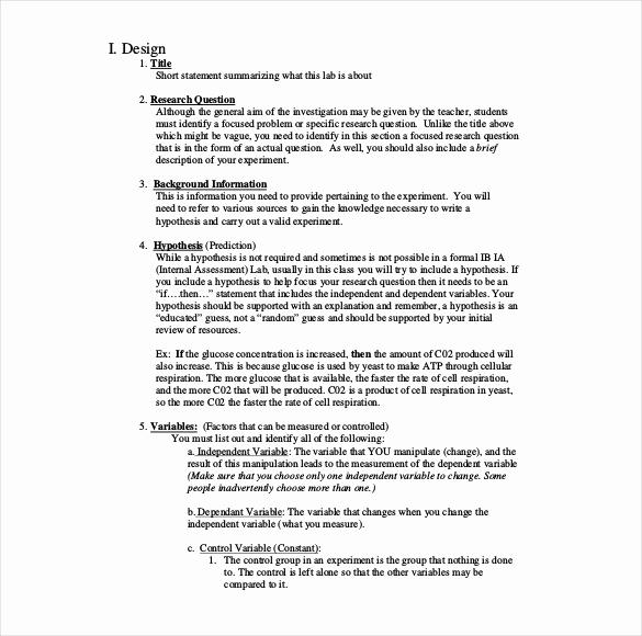 Formal Lab Report Template New 29 Lab Report Templates Pdf Google Docs Word Apple