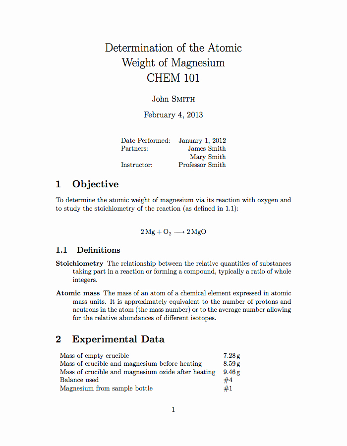 Formal Lab Report Template Unique Latex Templates University School Laboratory Report