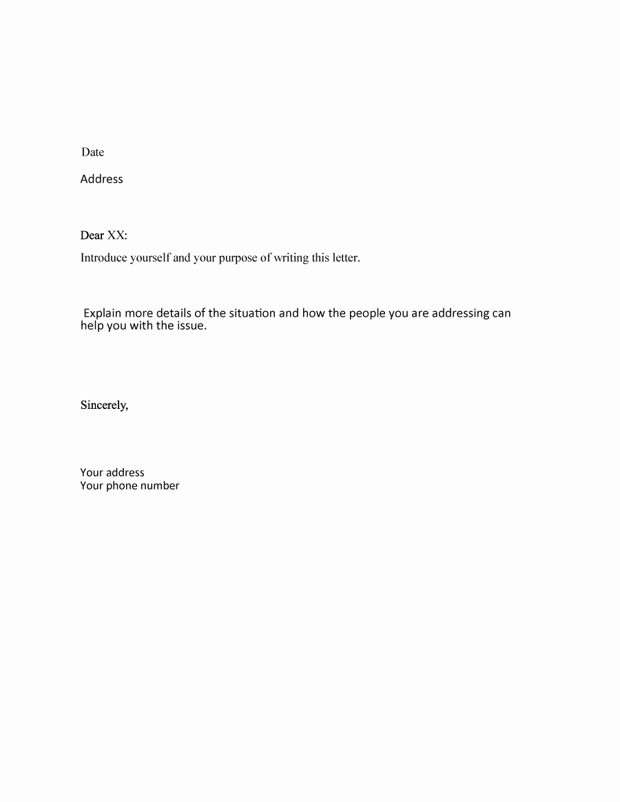Formal Letter format Sample Awesome 35 formal Business Letter format Templates & Examples