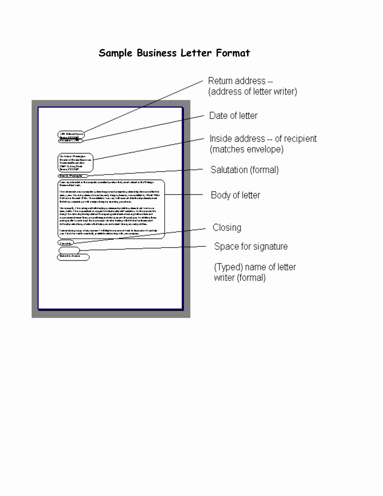 Formal Letter format Sample Fresh Free Printable Business Letter Template form Generic