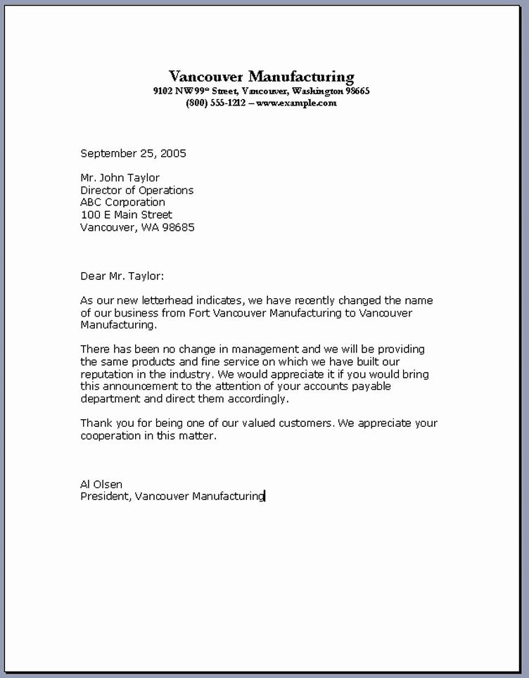 Formal Letter format Sample Unique Business Letter formats – Download Pdf