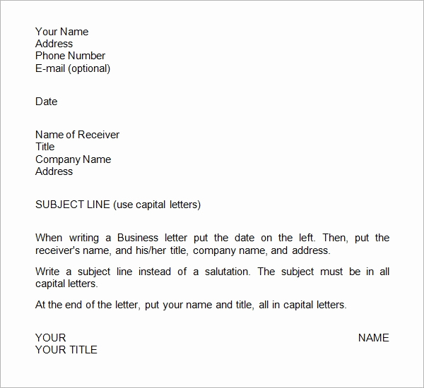 Formal Letter Template Word Fresh Business Letters format 15 Download Free Documents In